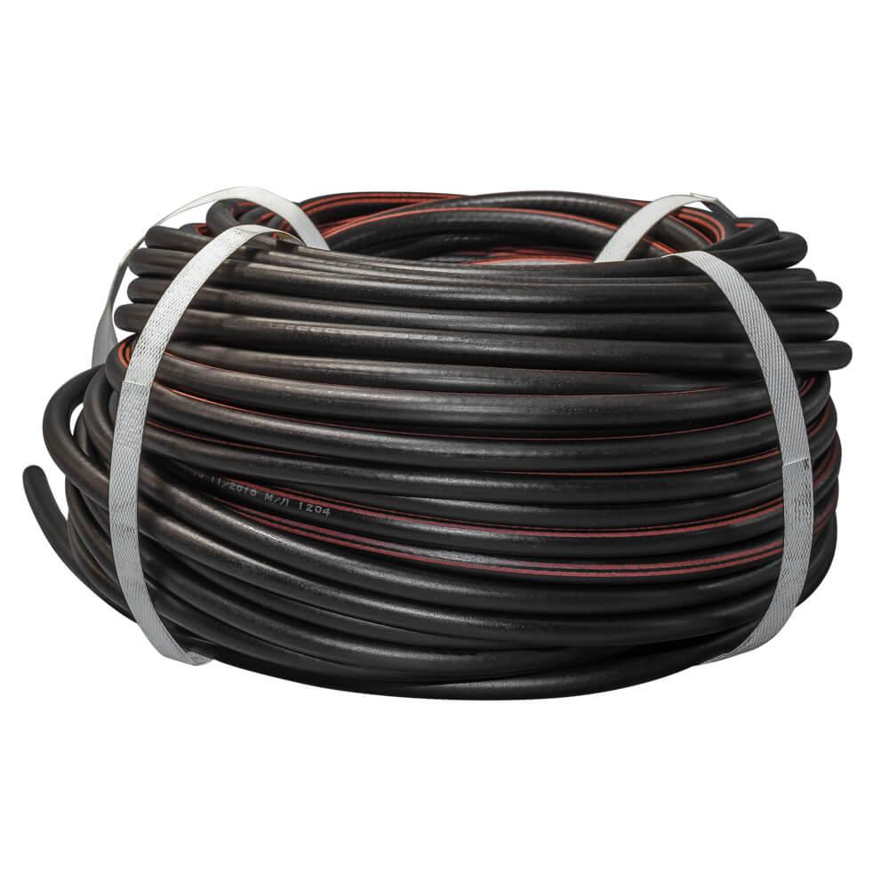 Рукав газовый, d6,3, чёрный с красной полосой
