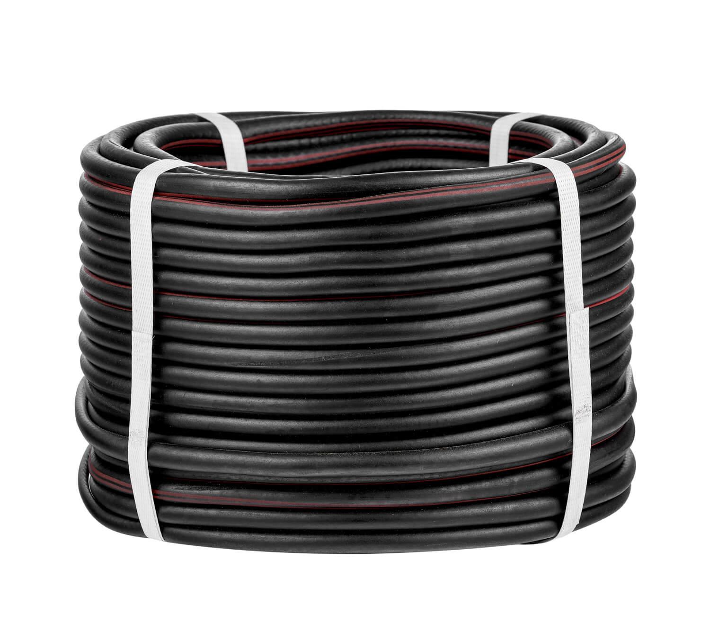 Рукав газовый, d6,3, чёрный с красной полосой, бухта 50м